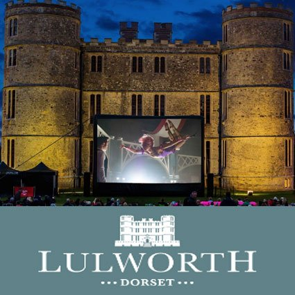 Open air cinema at Lulworth Castle