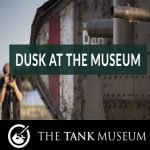 Dusk at the Tank Museum special event near Wareham