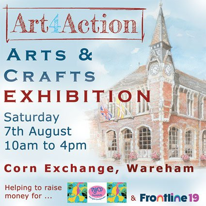 Arts and Crafts Exhibition in Wareham 7th August 2021