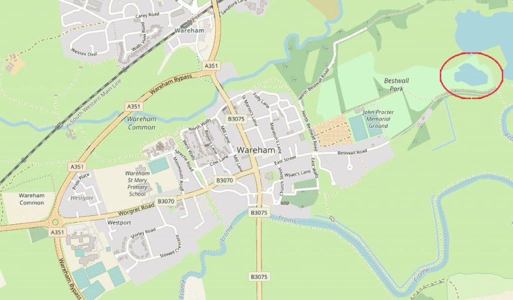 wareham map with bestwall
